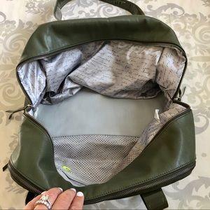 lululemon athletica Bags - Lululemon Olive Patent Leather Shoulder Gym Bag